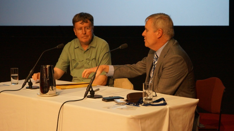 Professor Patrick Dunleavy (Left) and Tom Duncan, Clerk of the Legislative